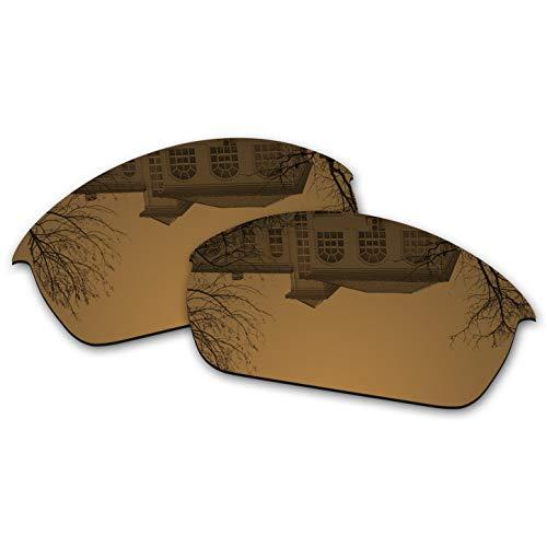 Millersawp Flak Jacket Replacement Lenses Compatiable with Oakley Sunglass-Bronze Iridium
