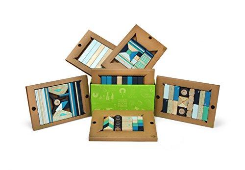 130 Piece Tegu Classroom Magnetic Wooden Block Set, Future