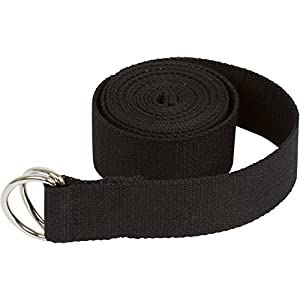 Trademark Innovations Durable Cotton Yoga Strap with Metal D Ring