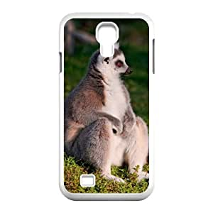 QSWHXN Customized Lemur Pattern Protective Case Cover Skin for Samsung Galaxy S4 I9500