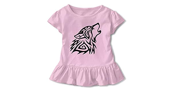 Tribal Wolf Howl 2-6 Years Old Child Short-Sleeved Tshirt