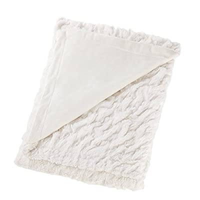 """Comfort Spaces - Ruched Faux Fur Throw 50"""" x 60"""" with 2 Square Pillow Covers 20"""" x 20"""""""