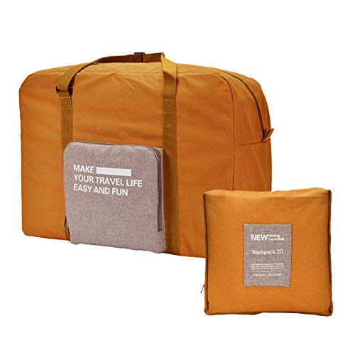 GrmeisLemc Yoga Hand Bag Foldable Light Weight Large Capacity Canvas Durable Duffle Travel Outdoor Sport Gym Luggage…
