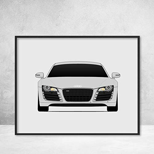 (Audi R8 Type 42 First Generation Poster Print Wall Art Decor Handmade Spyder)
