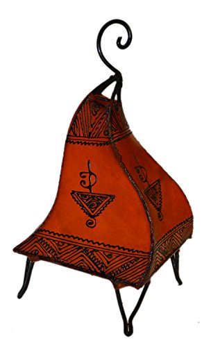 Henna Lamps & Sconces Moroccan Hand made Leather lamp henna tattoo African Orange