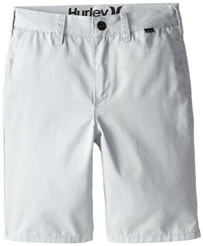 Hurley Boys' Big Walk Shorts, Wolf Grey, - Twill Shorts Flat Front