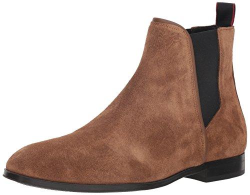 HUGO by Hugo Boss Men's Boheme Suede Chelsea Boot, Medium Brown, 42 M EU (9 US) (Hugo Boss Shoes Boots)