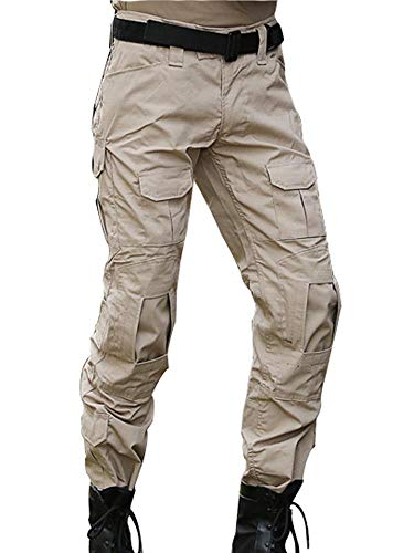 (AKARMY Men's Military Tactical Casual Camouflage Multi-Pocket BDU Cargo Pants Trousers CSWK Khaki )