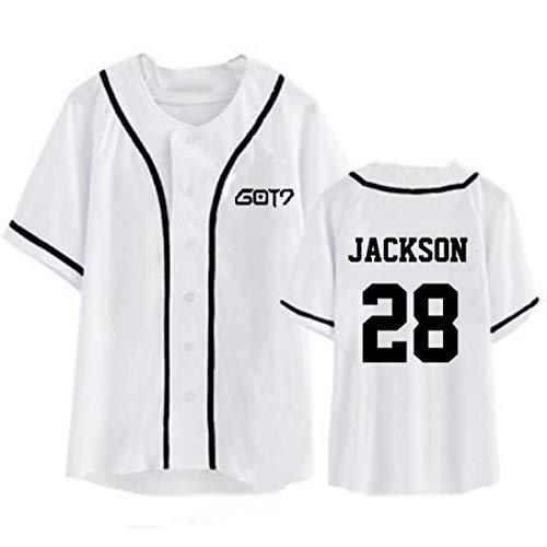 Maglietta GOT7 Jackson t Shirt Notte 6 Corta JB T KPOP Baseball da Bambam Manica Stampa Shirt da Monopetto Shirt Youngjae Uniforme T Mark 4wpzUq8qn