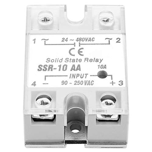 SSR-10 AA 10A Solid State Relay Module SSR AC-AC Input 90-250V AC Output 24-480V AC Solid State Relay