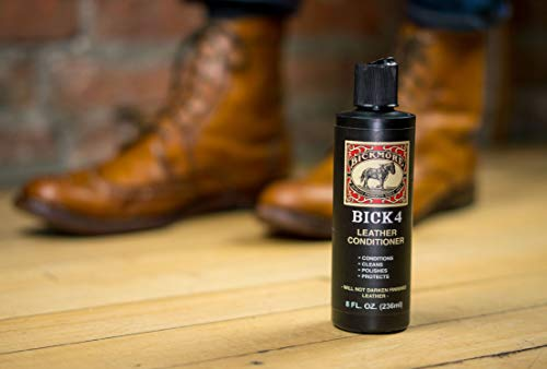 Bickmore Bick 4 Leather Conditioner 8 oz - Best Since 1882 - Cleaner & Conditioner - Restore Polish & Protect All Smooth Finished Leathers