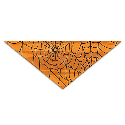 CYCY Washable Happy Halloween Spider Web Dog Unique and Never Out of Date Bandanas Scarves Triangle Bibs Scarfs Funny Basic Neckerchief Cat Collars Pet Costume Accessory Kerchief Holiday Birthday GIF -