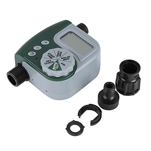 Alotm 1 Outlet Programmable Hose Faucet Timer, Automatic ON/OFF Digital Irrigation Controller Watering Timer, Easy Hose Connection, Battery Powered Watering System for Outdoor Garden by Alotm (Image #6)