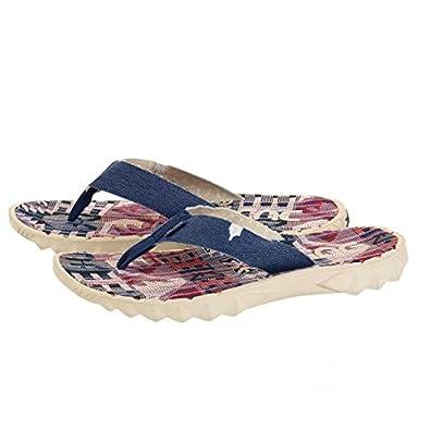 Dude Shoes Sava Red Canvas Flip Flop 42/3 GIVUm0q
