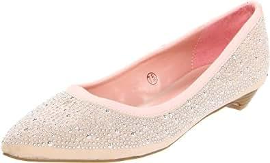 Miss Me Women's Hudson 7 Flat,Pink,11 M Us