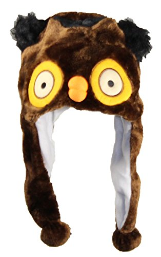Best Winter Hats Adult/Teen Animal Character Ear Flap Beanie (One Size) - Owl