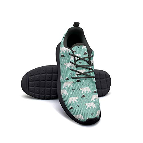 YSLC Blue Polar Bear Stand Lightweight Running Shoes for Women Sneaker Walking Breathable Shoes -