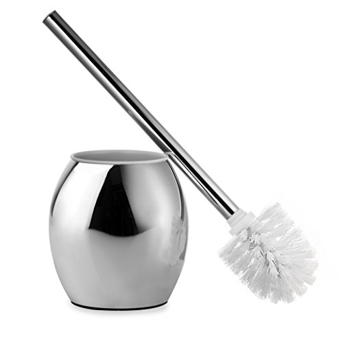 AMG and Enchante Accessories, Toilet Brush and Oval Holder, TB100002 CHR, Chrome