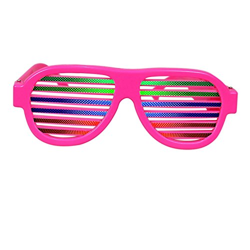 Music & Sound-Activated LED light Party Glasses, USB Rechargeable LED flashing sunglasses of Party Decoration Shutter Shades Eyewear for Clubbing, Bar, Rave, Birthday, Concert & Disco (Pink) -