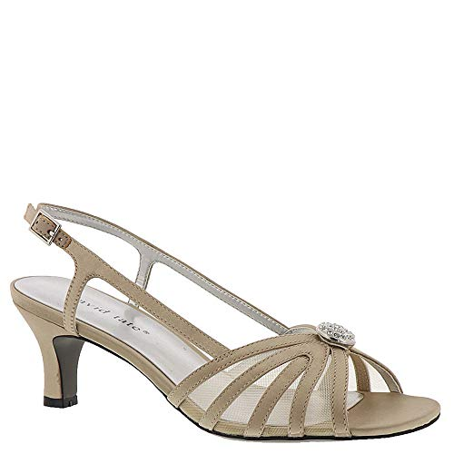 (David Tate Women's Cheer Champagne Satin 7.5 D US)