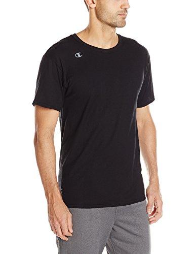 Champion Men's Vapor Cotton Short Sleeve Tee, Black, Medium