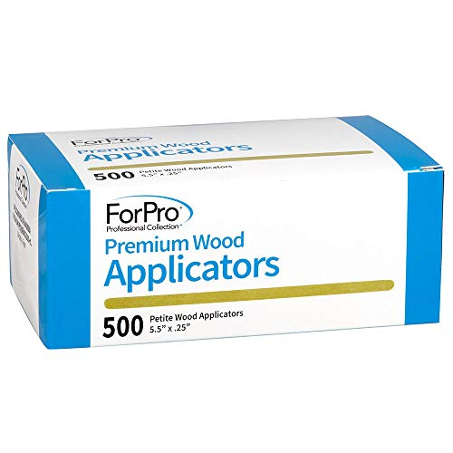 ForPro Premium Wood Applicators, Non-Sterile, for Hair Removal Waxing, Petite, 5.5 inches L x .25 inches W, - Petite Applicators Wood