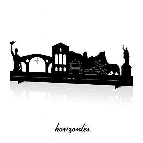 Silueta monumentos Asturias