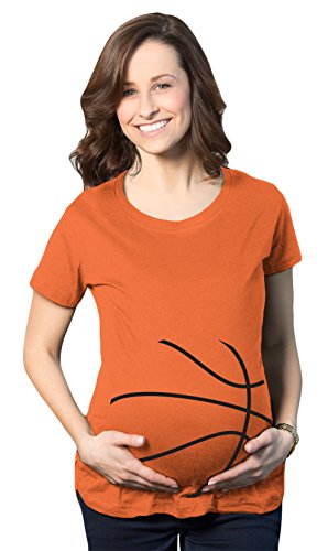 Crazy Dog TShirts - Maternity Basketball Bump Announcement Funny Pregnancy Gift Tee for Ladies - damen -