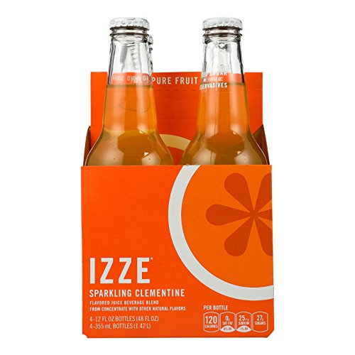 Izze Sparkling Juice - Clementine - Case of 6 - 12 Fl oz. by Izze