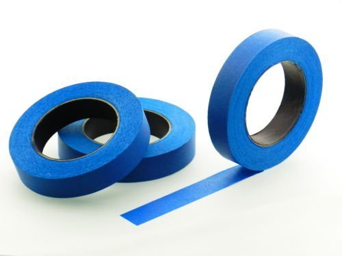 3pk 1' x 60 yd Blue Painters Tape PROFESSIONAL Grade Masking Edge Trim Easy Removal (24MM .94 in)