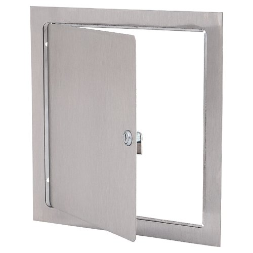 Elmdor 12 x 12 DW Series Access Door For Drywall Applications, Stainless Steel, Screwdriver Latch by Elmdor