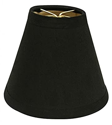 Royal Designs Black Hardback Empire Chandelier Lamp Shade with Gold Lining