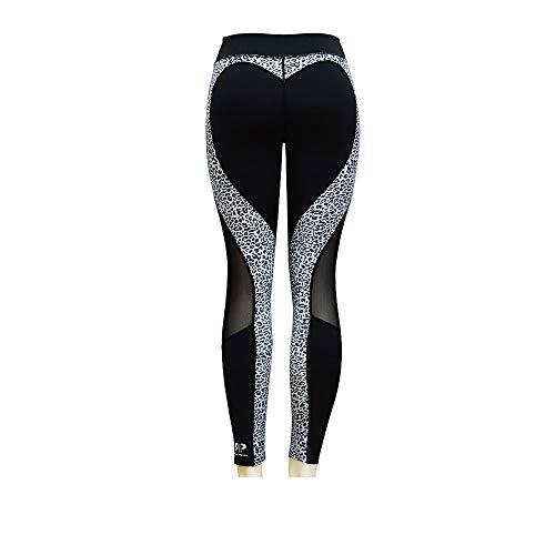 Real Power Womans Leggings/Training/Workout/Yoga/Empower Yourself! Black Cyan Leopard Medium