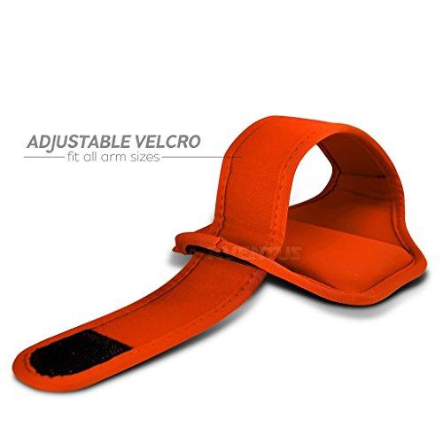 Aventus Wiko Sunset2 (Weiß) Voll einstellbare Leicht Hulle Armband-Halter-Kasten-Abdeckung Running, Walking, Radfahren, Fitnessraum und andere Sportarten Orange