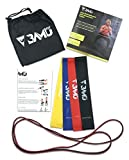 BAMU FIT Resistance Exercise Workout Bands – Set of 5, 12″ x 2″ Mini Loop and Pull Up Band Set with Instruction Guide and Large Nylon Bag – Elastic Mobility Bands for Booty/Glutes/Arms/Legs/Men/Women For Sale