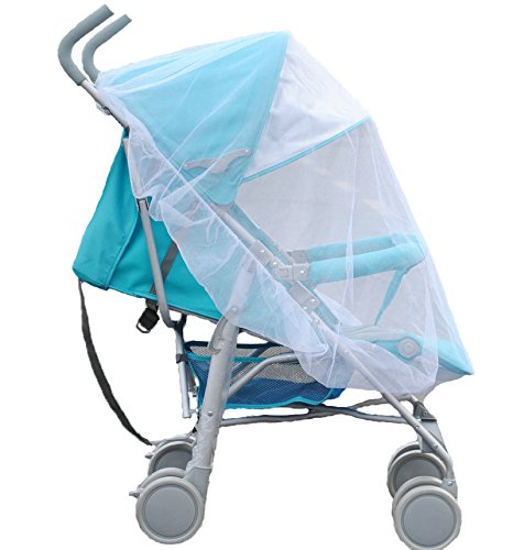 Ewinsun Universal Full Cover Baby Mosquito Net for Strollers, Carriers,Cradles,White Portable Infant Insect Bug Netting (Infant Netting Carrier)