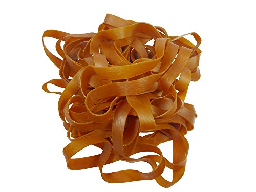 Elastic Rubber Bands - Extra Large Jumbo Size - Set of 40 - Length: 9 inches, Width: 3/4 inch, Thickness: 1/8 inch - Size 109