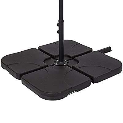 Marketworldcup-Best Choice Products Patio 4-Piece Cantilever Offset Umbrella Base Stand