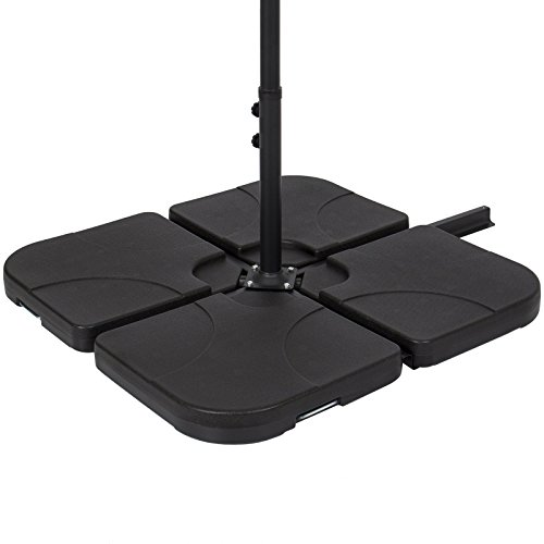Patio 4-Piece Offset Cast Umbrella Base Stand (Australia Retractable Patio Awnings)