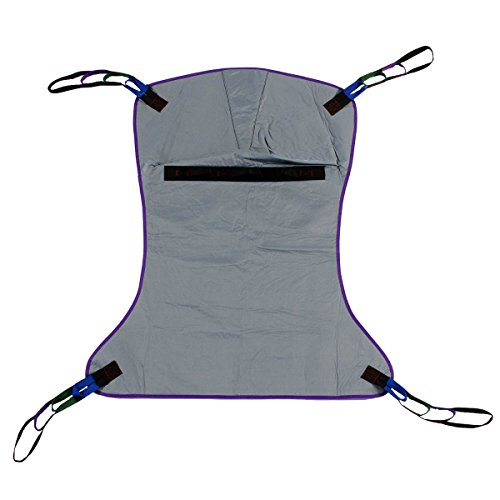 - Full Body Solid Fabric Patient Lift Sling, Size Large, 600lb Weight Capacity