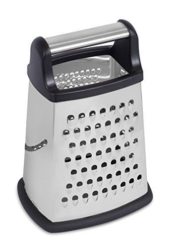 (Internet's Best Stainless Steel Box Grater - 4 Sided Grater and Slicer - 8.5 Inch - Hand Shaver for Cheese Fruit Vegetable Root Nuts - Non-Slip Bottom)