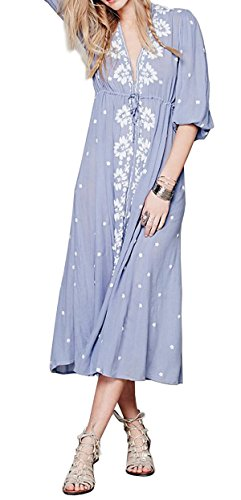 Cotton Embroidered Dress - 9
