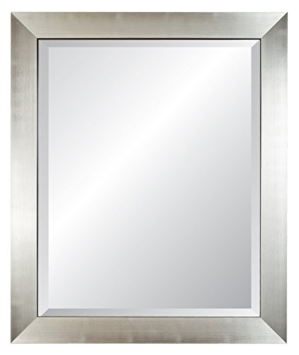 Alpine Art & Mirror 5131A Isles Trim Wall Mirror, 29 by 35-Inch, Silver (Alpine Mirror)