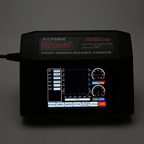 Wikiwand G.T Power TD610 Pro 10A 100W Balance Charger for LiPo Life LiHV NiCd NiMH US by Wikiwand (Image #4)