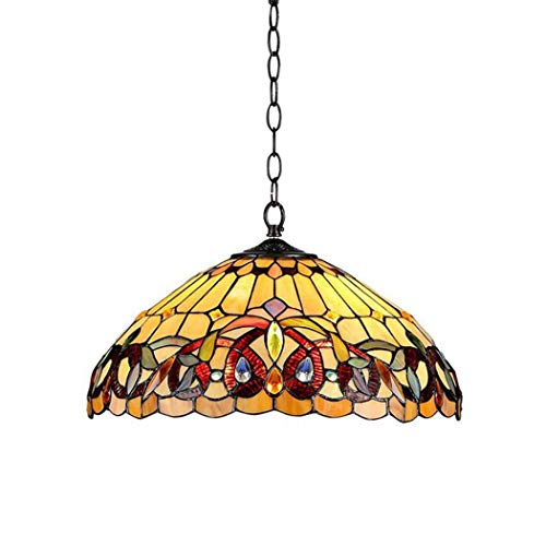 Real Stained Glass Tiffany Style Handcrafted Pendant Light in US - 1