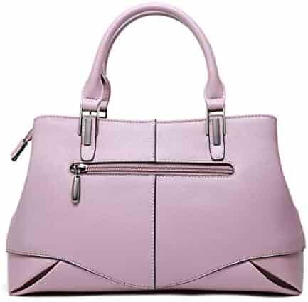 d5f7eef474 Sopetify Genuine Leather Women Top Handle Satchel Handbag Tote Shoulder Bag  Purse Crossbody Bag Women s Totes