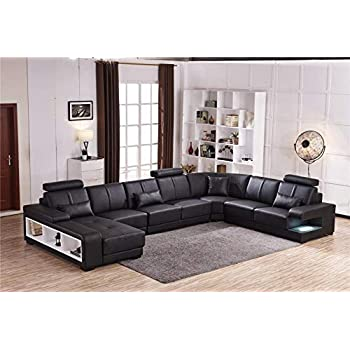 Amazon.com: My Aashis Luxury Sectional Sofa Design U Shape 7 Seater ...