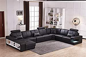 Amazon Com My Aashis Luxury Sectional Sofa Design U Shape