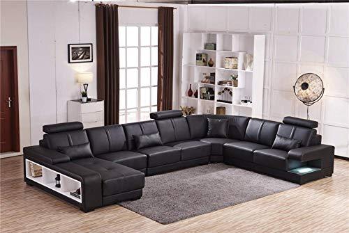 Amazon.com: My Aashis - Sofá de esquina con forma de U, 7 ...