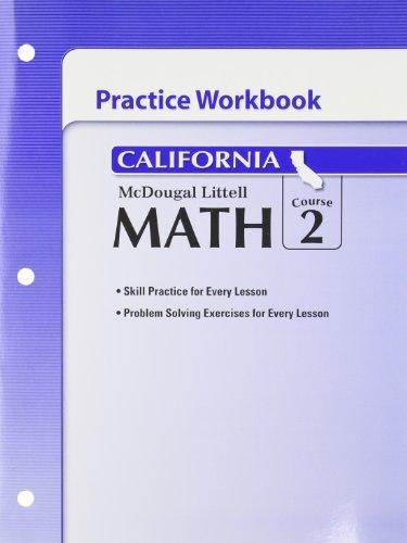 McDougal Littell Middle School Math California: Practice Workbook Course 2